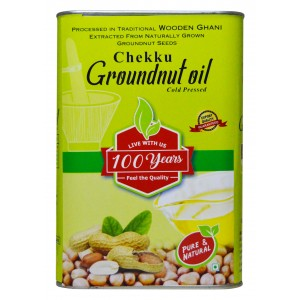 100 Years Brand - Groundnut Oil Extracted from Wooden Ghani/Mara Chekku