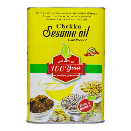 100 Years Brand - Sesame/Gingelly Oil Extracted From Wooden Ghani/Mara Chekku